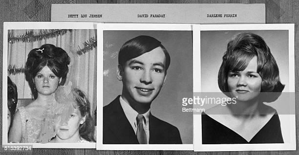 San Francisco murder victims; Betty Lou Jensen, David Faraday, and Darlene Ferrin, alleged to be victims of the Zodiac Killer.
