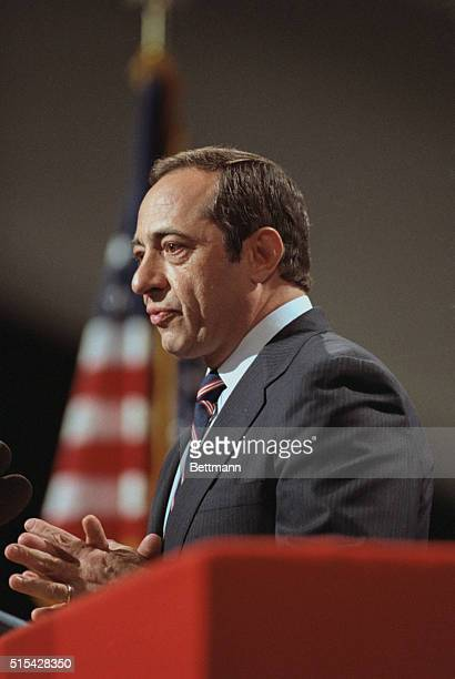 New York Governor Mario Cuomo delivers the keynote address to the Democratic National Convention July 16th
