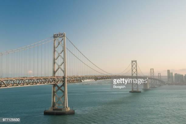 san francisco oakland bay bridge architecture california usa - bay bridge stock pictures, royalty-free photos & images
