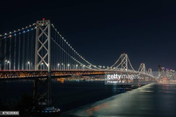 san francisco oakland bay bridge - bay bridge stock pictures, royalty-free photos & images