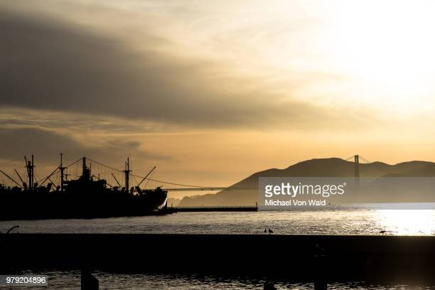 san francisco pier 39 at dusk - wald stock pictures, royalty-free photos & images