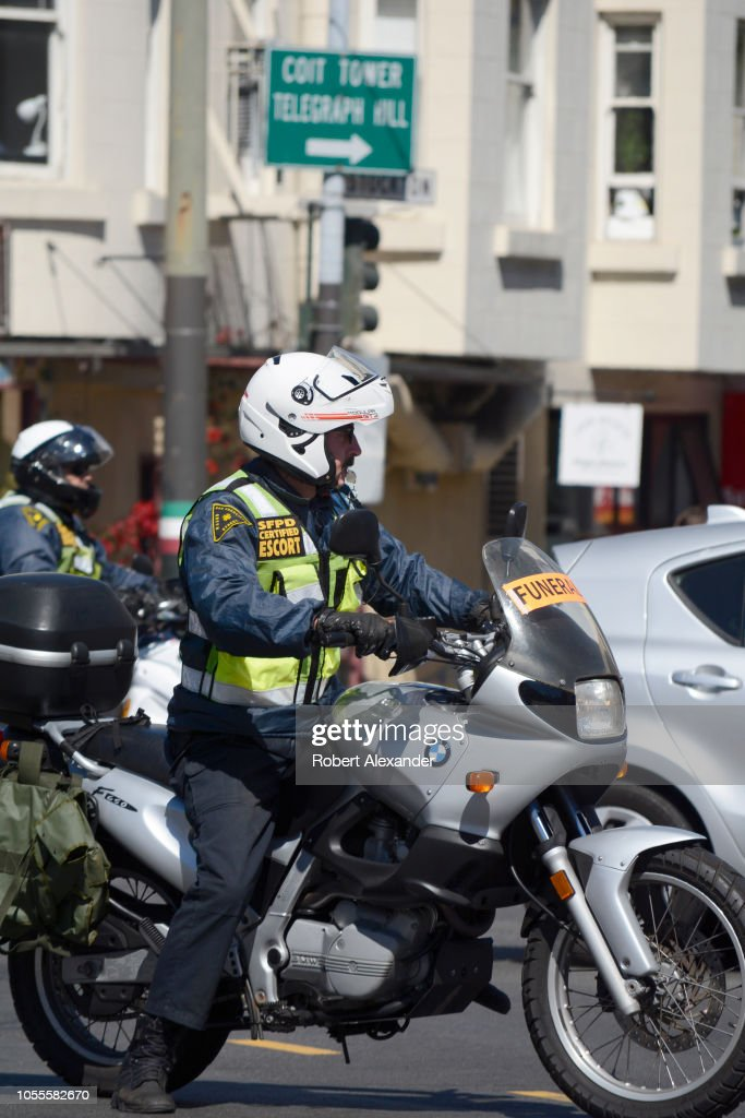 San Francisco Police Department Certified Escort On A Bmw Motorcycle