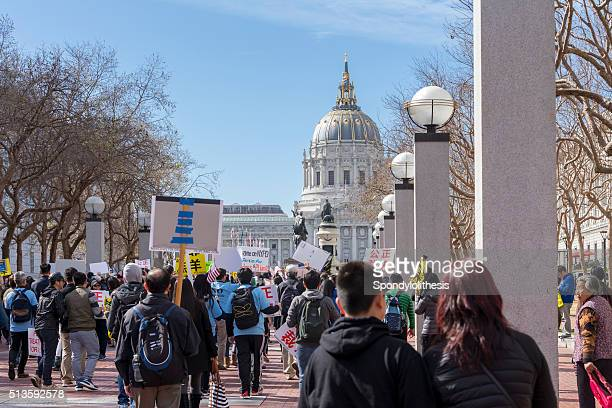 San Francisco Rally in Unterstützung von Peter Liang
