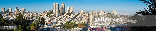 San Francisco Russian Hill North Beach streets cityscape panorama California