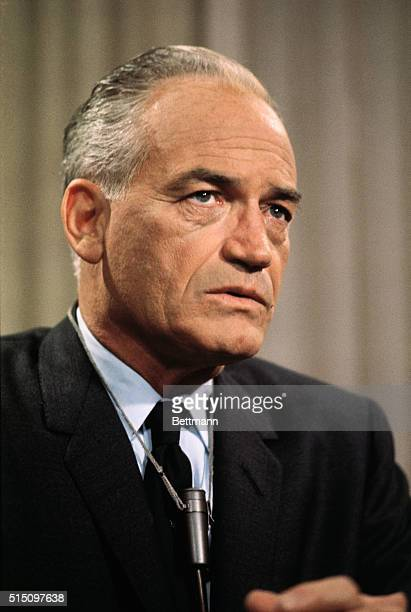 San Francisco: Senator Barry Goldwater, the Republican nominee for the Presidency, speaks to newsmen during interview after he was given the GOP...