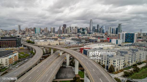 san francisco shelter in place - empty city coronavirus stock pictures, royalty-free photos & images
