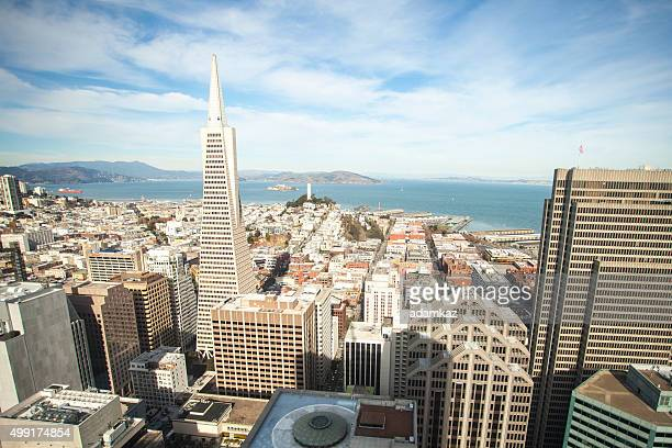 san francisco skyline at day - midday stock pictures, royalty-free photos & images