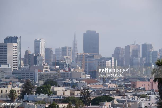 San Francisco skyline from Mission Dolores Park