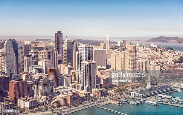 San francisco Skyline from the helicopter