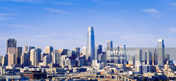 san francisco skyline in the afternoon - san francisco california stock pictures, royalty-free photos & images