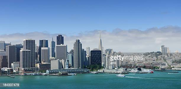 San Francisco Skyline Panoramic View from Bay Bridge (XXL)