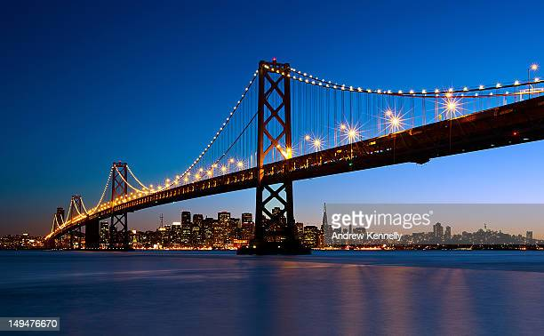 san francisco skyline - bay bridge stock pictures, royalty-free photos & images