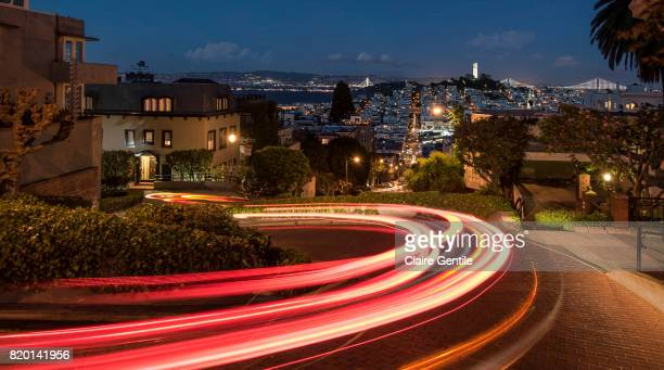 san francisco skyline - lombard street san francisco stock pictures, royalty-free photos & images