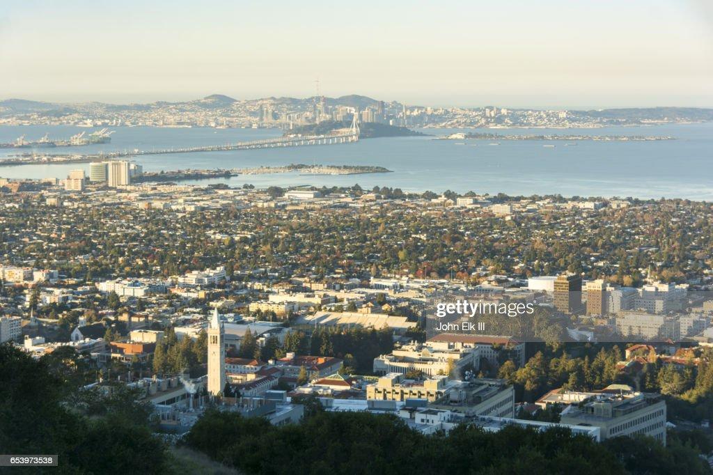 San Francisco skyline with UC Berkeley campus : Stock Photo