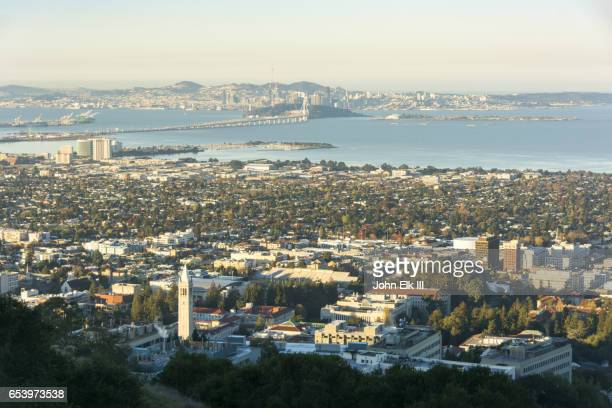 San Francisco skyline with UC Berkeley campus