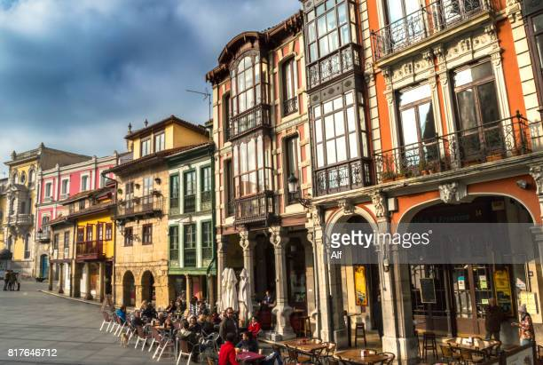 San Francisco street in the old town of Avilés, Asturias, Spain