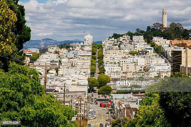 San Francisco streets and skyline, California, USA