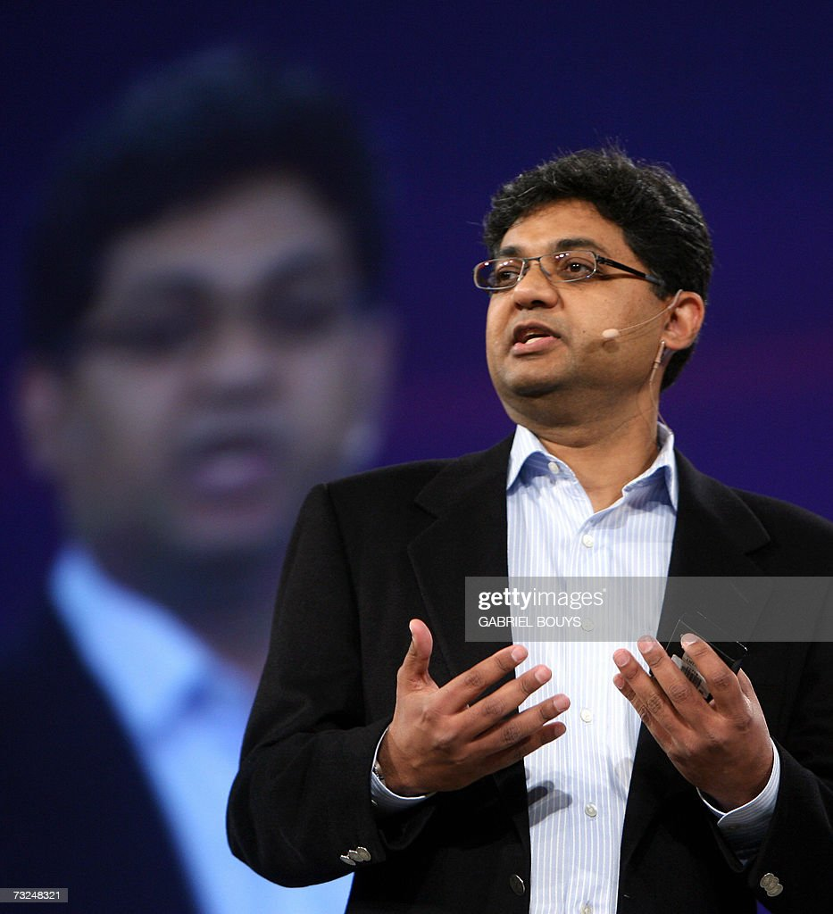 Hasan Rizvi, vice president of identity management and security products at Oracle Corporation gives a conference on 'Security in the Information Age' at the RSA Conference 2007 in San Francisco 07 February 2007. Rizvi spoke in remplacment of Oracle CEO Larry Ellison who is sick. AFP PHOTO/Gabriel BOUYS
