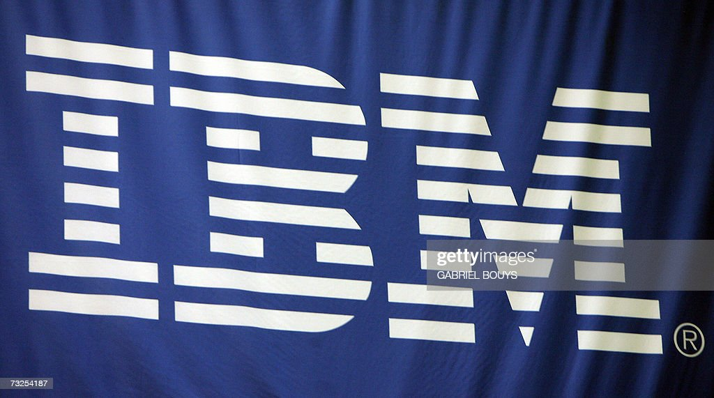 The IBM logo is pictured at the RSA Conference 2007 in San Francisco, 07 February 2007.