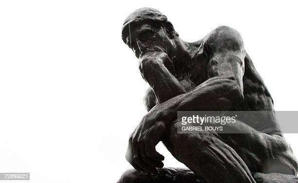 'The Thinker' by French sculptor Auguste Rodin is displayed at the California Palace of the Legion of Honor Museum in San Francisco 21 December 2007...