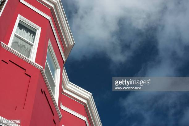 san francisco victorian architecture - mission district stock photos and pictures