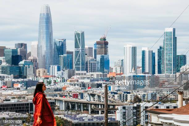 """san francisco view from potrero hill - """"peeter viisimaa"""" or peeterv stock pictures, royalty-free photos & images"""