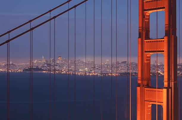 San Francisco visible through the Golden Gate Brid