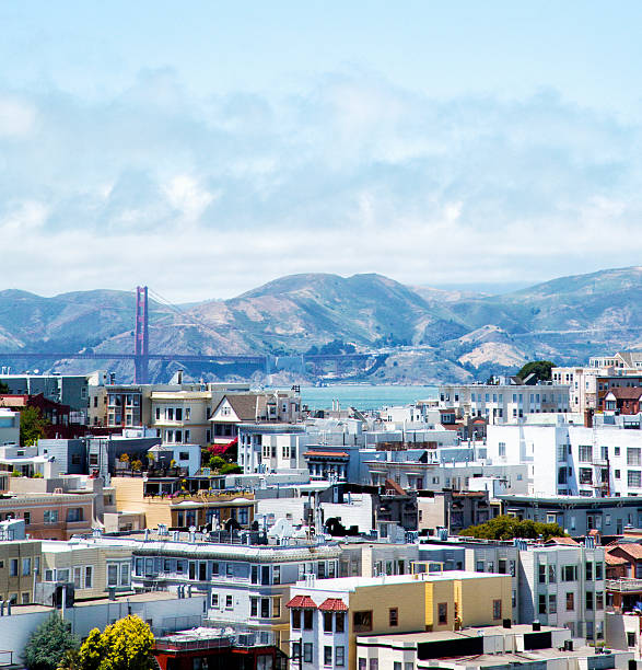 San Francisco with a view of the Golden Gate