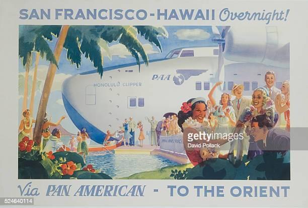 San FranciscoHawaii Overnight Via Pan American Poster