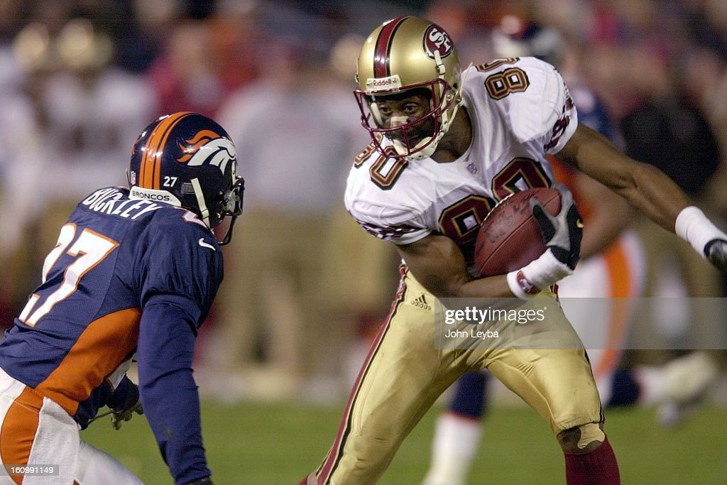pretty nice 194eb 3bfec San Francisco's Jerry Rice eyes Denver Broncos Terrell ...