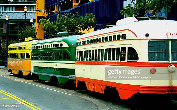San Francisco's Municipal Railway Muni Fleet streetcars that have been beautifully restored The fleet comes from around the country and world The...