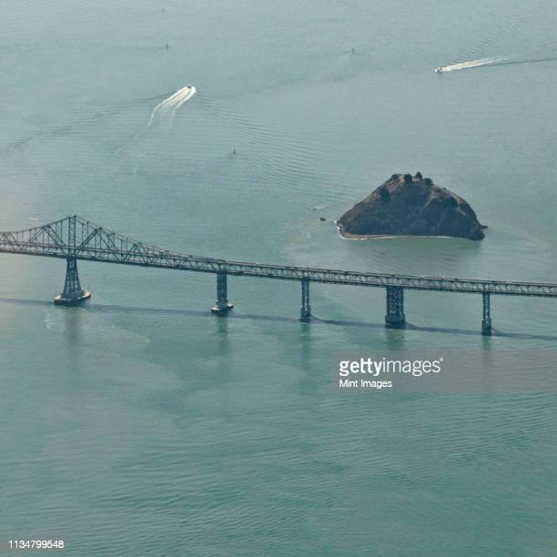 san francisco's richmond-san rafael bridge - san rafael california stock pictures, royalty-free photos & images