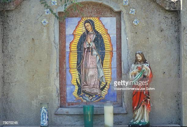 san gabriel mission museum in california was founded in 1771 - virgen de guadalupe fotografías e imágenes de stock