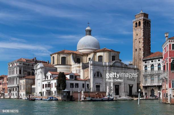 san geremia church seen from the canal grande, venice, italy - frans sellies stock pictures, royalty-free photos & images