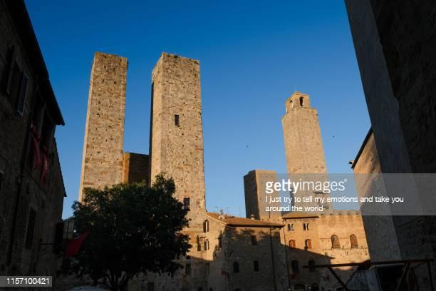 san gimignano, siena, tuscany - italy - luogo d'interesse internazionale foto e immagini stock