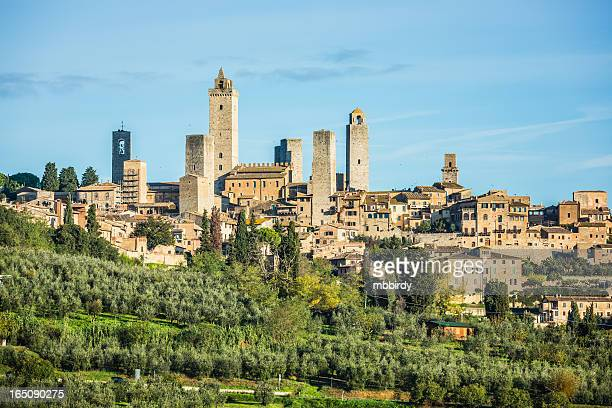 、サン・ジミニャーノ、シエナ、トスカーナ、イタリア - サンジミニャーノ ストックフォトと画像