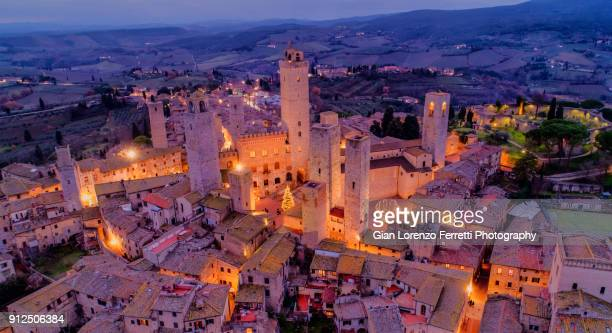 san gimignano, tuscany - skyline - ancient history stock pictures, royalty-free photos & images