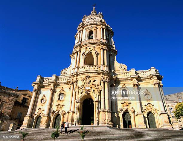 San Giorgio Church Modica Sicily Italy A fine example of Sicilian Baroque architecture this church was rebuilt to a design by Rosario Gagliardi in...