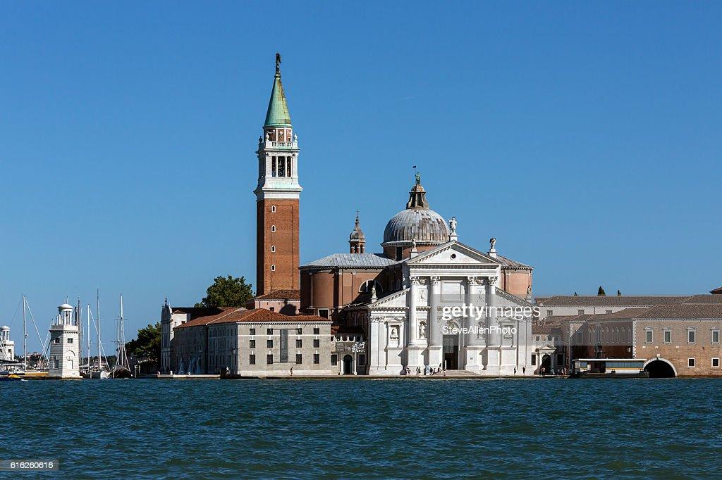San Giorgio Maggiore em Veneza-Itália : Foto de stock