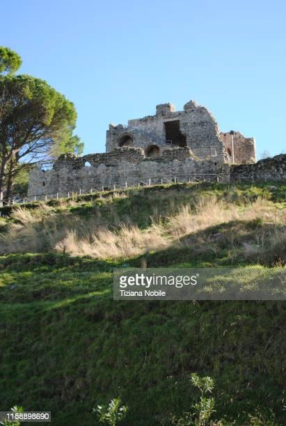 san giorgio morgeto castello - reggio calabria stock pictures, royalty-free photos & images