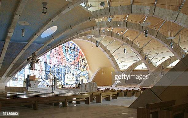 Picture taken 16 March 2006 of the Padre Pio Pilgrimage Church in San Giovanni Rotondo built by italian architect Renzo Piano AFP PHOTO / MARIO...