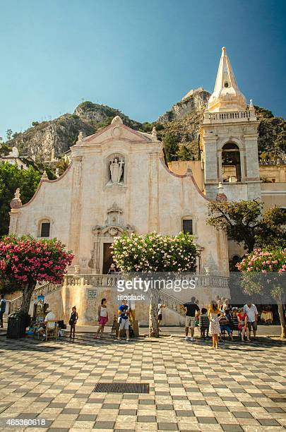 san giuseppe church - taormina, sicily - taormina stock pictures, royalty-free photos & images