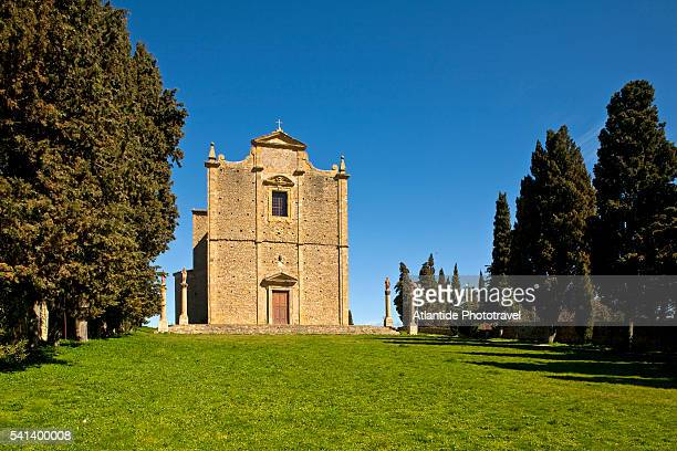 san giusto church in volterra - volterra stock photos and pictures