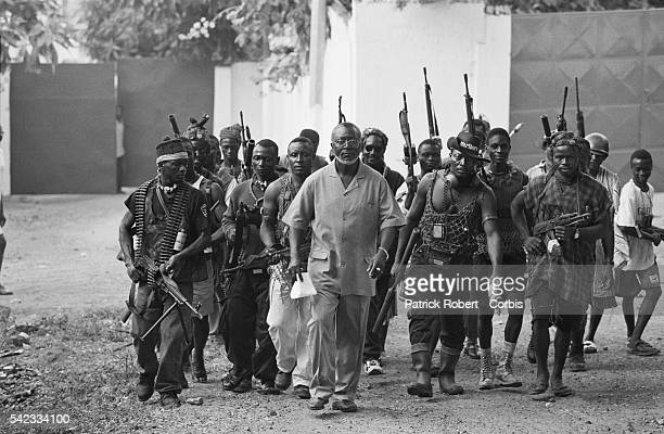 San Hinga Norman leader of the Kamajor militia which is currently assisting ECOMOG the West African intervention force