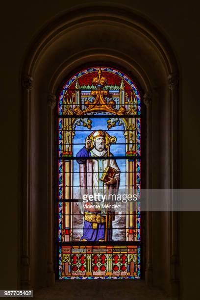 San Idelfonso - Vidriera de la Iglesia de San Jerónimo el Real (Los Jerónimos)