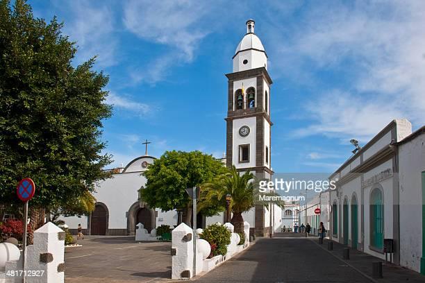 san iglés church - arrecife stock photos and pictures