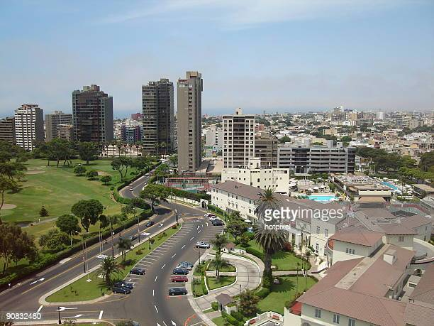 san isidro view - lima stock pictures, royalty-free photos & images