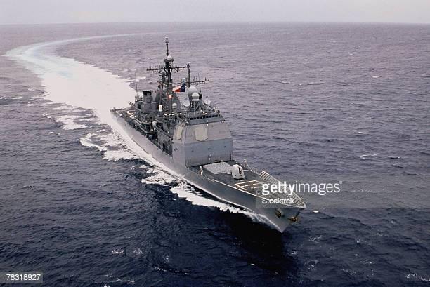 USS San Jacinto in Mediterranean Sea