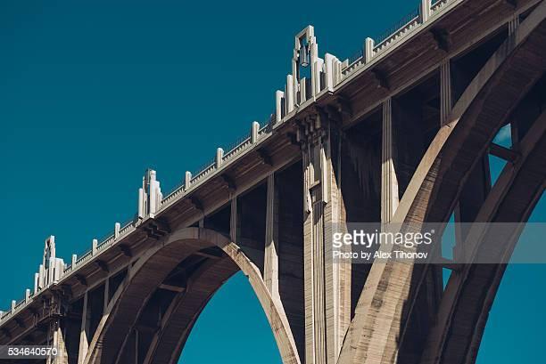 San Jordi Bridge in Alcoy city. Spain