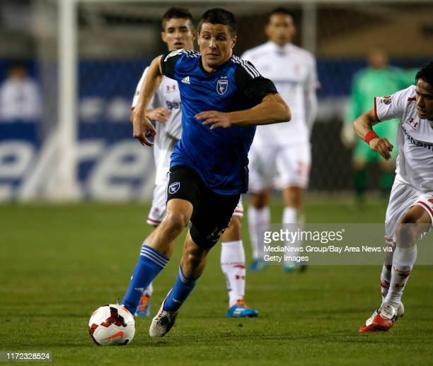 San Jose Earthquakes' JJ Koval controls the ball against Deportivo Toluca FC in the second half at Buck Shaw Stadium in Santa Clara Calif on Tuesday...